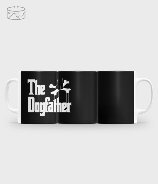 Kubek full print (panorama) The Dogfather