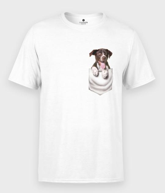 Koszulka męska Piesek w kieszeni