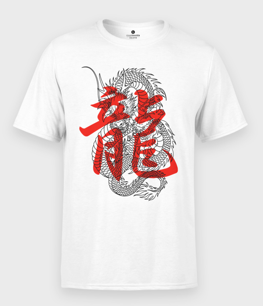 Koszulka męska Smok kanji