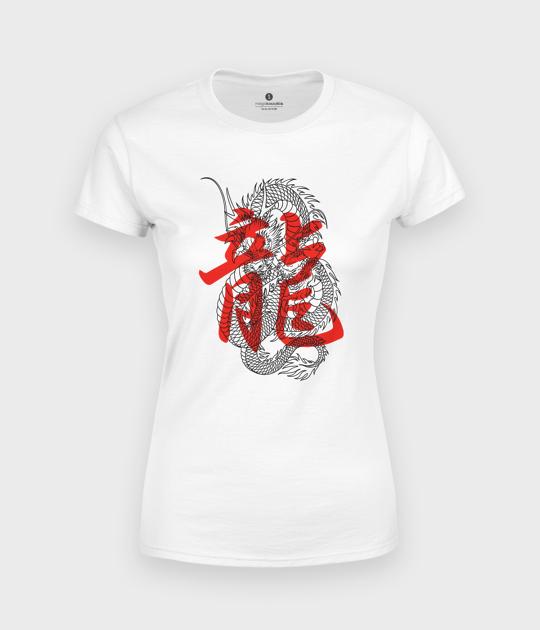Koszulka damska Smok kanji