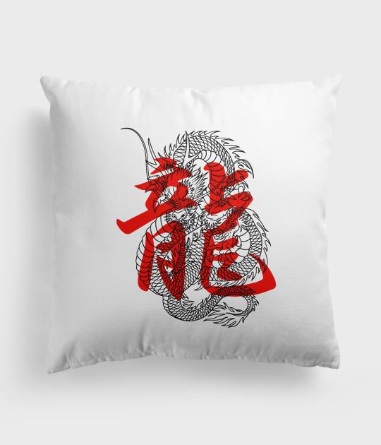 Poduszka Smok kanji