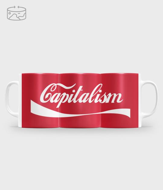 Kubek full print (panorama) Capitalism