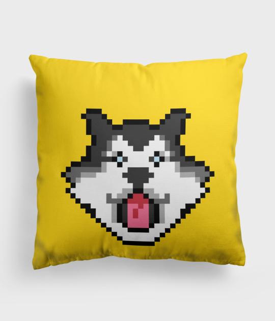 Poduszka full print Pixel Husky 2