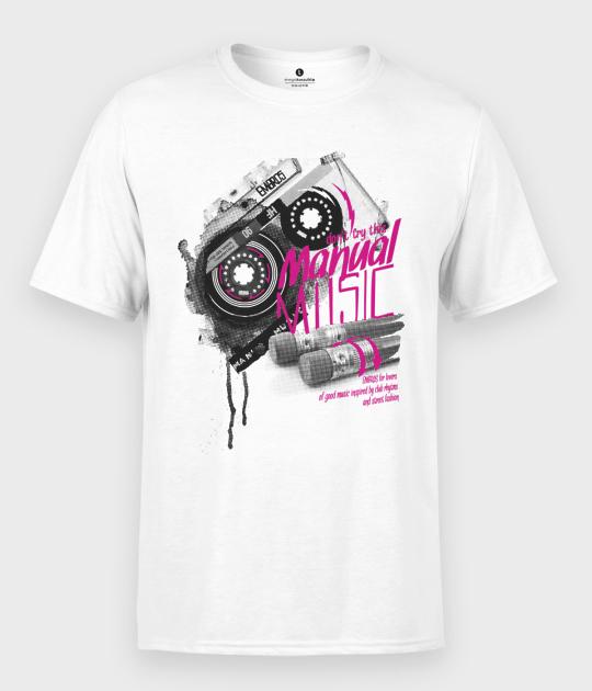 Koszulka męska Kaseta - Muzyka Manualna