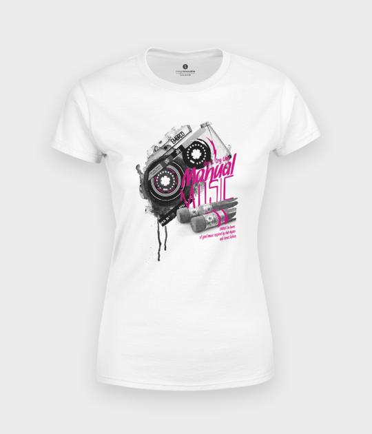 Koszulka damska Kaseta - Muzyka Manualna