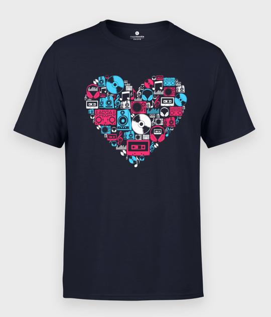 Koszulka męska Muzyczne Serce