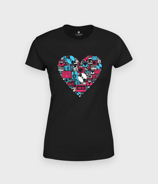 Koszulka damska Muzyczne Serce