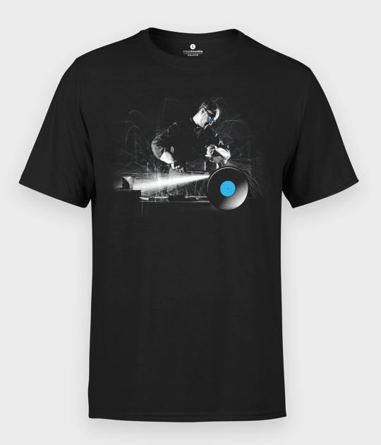 Koszulka męska Praca z winylem