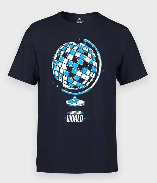 Koszulka męska Globus Disco Ball