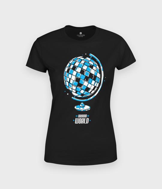 Koszulka damska Globus Disco Ball