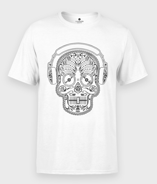 Koszulka męska Muzyczna Sugar Skull