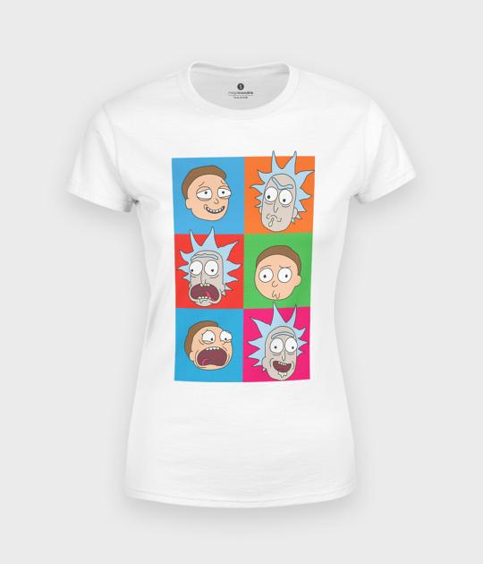 Koszulka damska Emocje Rick and Morty