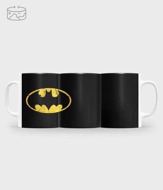 Kubek full print (panorama) Batman Scratched