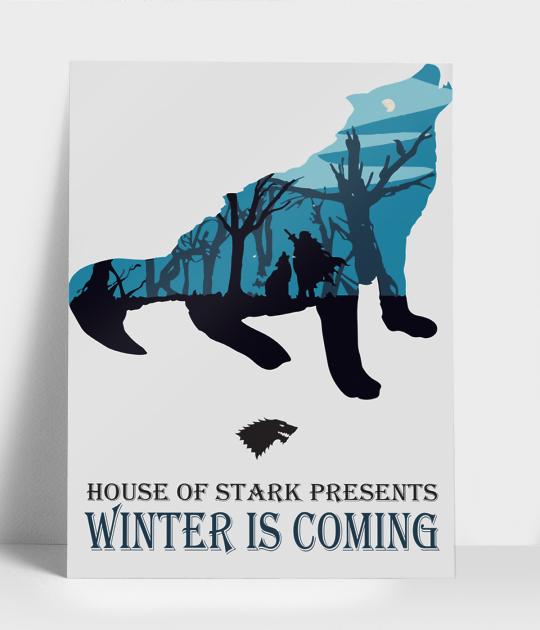 Plakat pionowy A3 Winter is coming