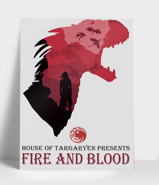 Plakat pionowy A3 Fire and blood