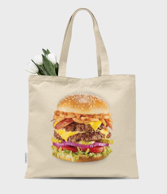 Torba bawełniana premium Hamburger