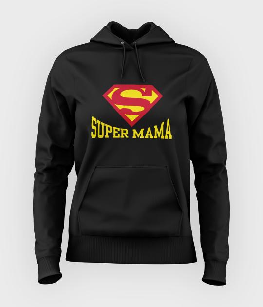 Bluza damska z kapturem Super mama