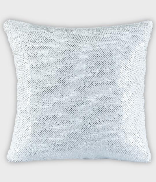 Poduszka z cekinami biała (bez nadruku)