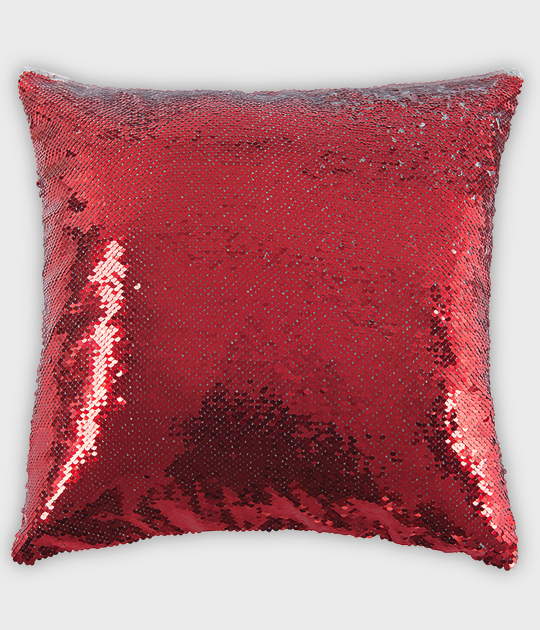 Poduszka z cekinami czerwona (bez nadruku)