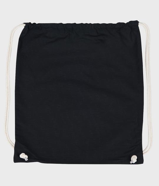 Worek bawełniany (gładki, bez nadruku) - czarny