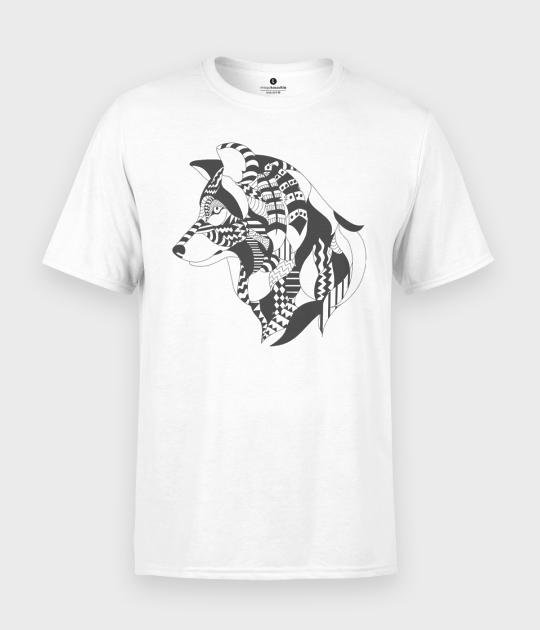 Koszulka męska Wilk indianin