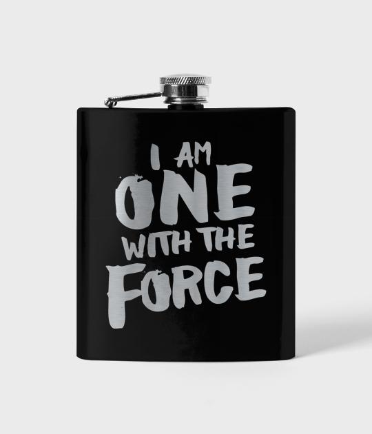 Piersiówka czarna Star Wars One with force