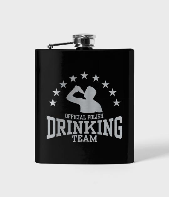 Piersiówka czarna Official polish drinking team