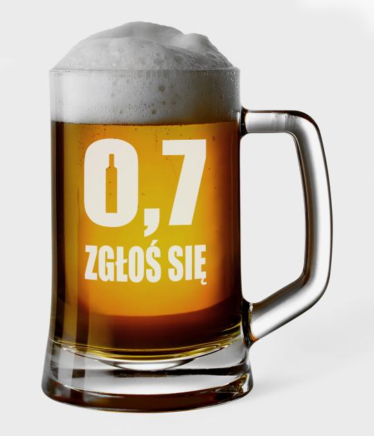 Kufel do piwa 0,7 zgłoś się