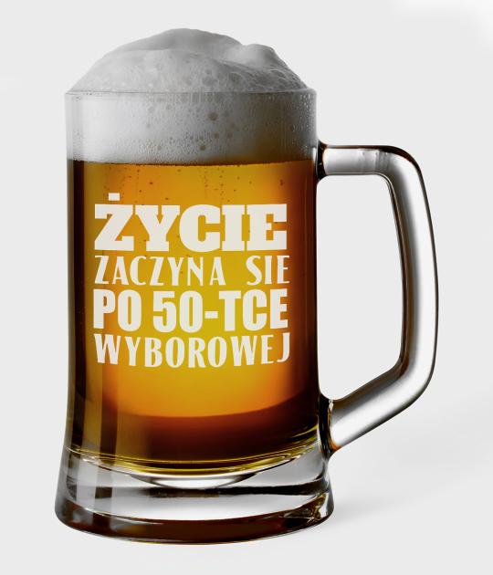 Kufel do piwa Życie zaczyna się po 50-tce