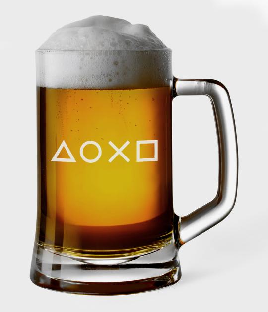 Kufel do piwa Znaczki PlayStation