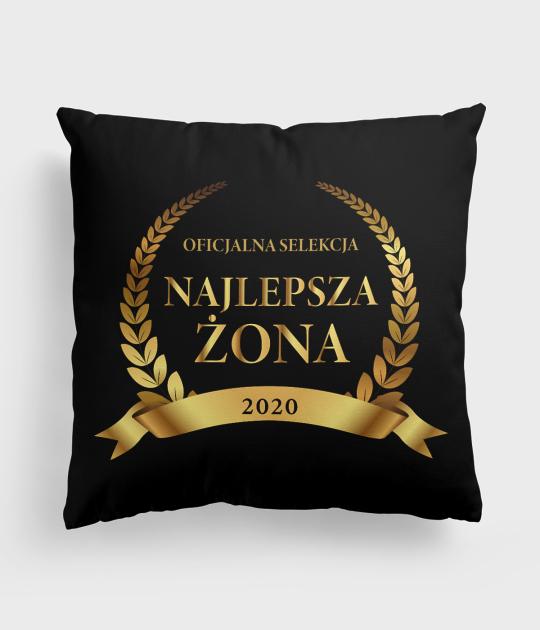 Poduszka full print Najlepsza Żona + rok
