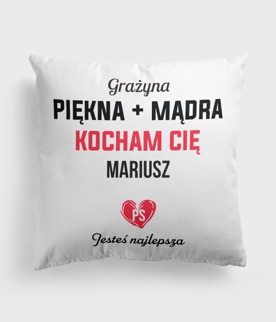 Poduszka Piękna + mądra + imiona