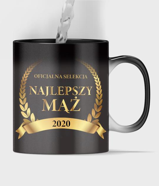 Kubek magiczny full print Najlepszy Mąż + rok