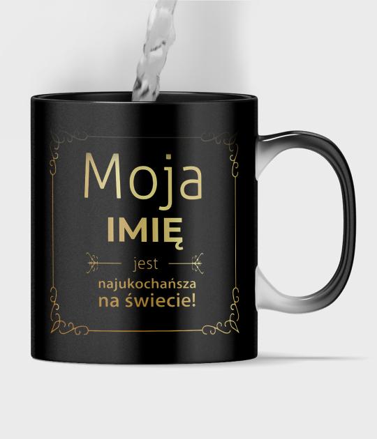 Kubek magiczny full print Moja + imię Twojej Partnerki