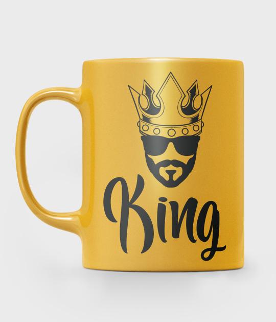Kubek metaliczny King z Grafiką