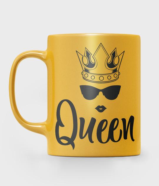 Kubek metaliczny Queen z Grafiką
