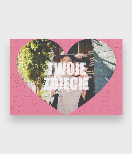 Puzzle Walentynkowe Serce + Twoje zdjęcie