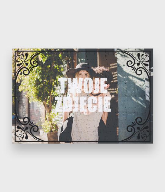 Puzzle Walentynkowa ozdobna ramka + Twoje zdjęcie