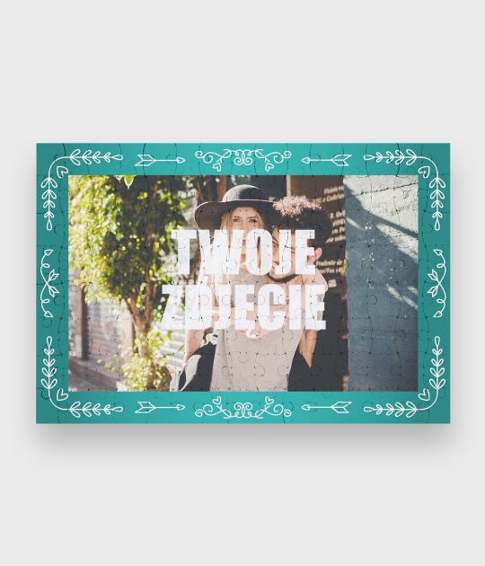 Puzzle Walentynkowe Serduszka + Twoje zdjęcie