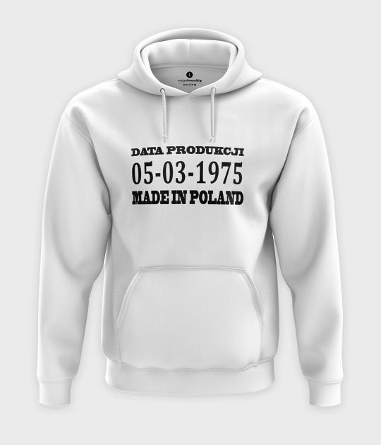 Bluza z kapturem Made in Poland + Twoja data