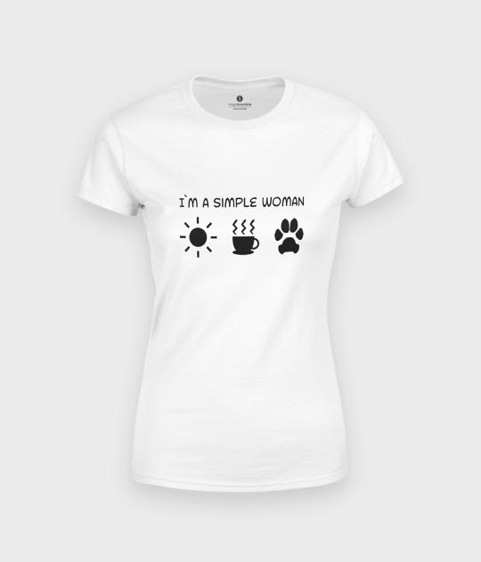 Koszulka damska Simple woman dog