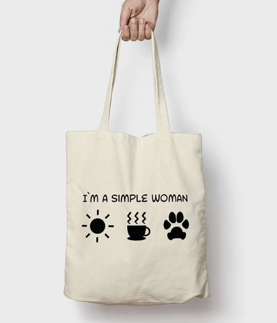 Torba bawełniana Simple woman dog