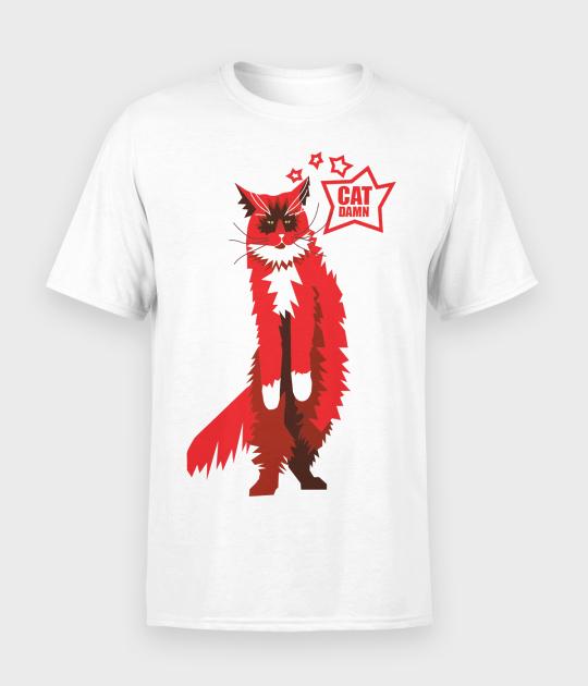 Koszulka męska Cat damn
