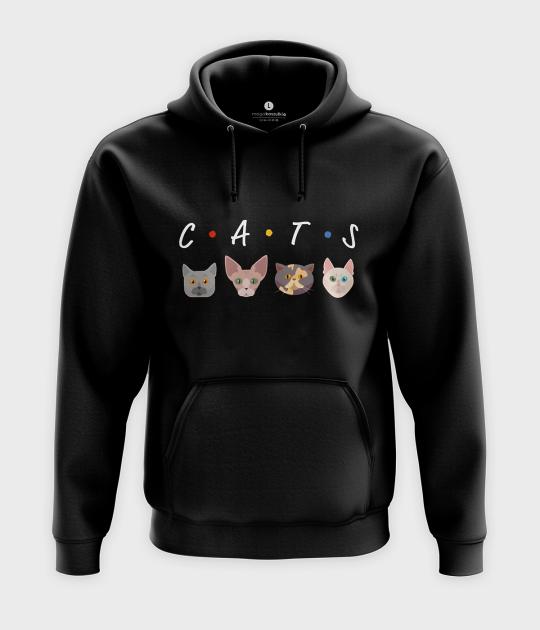 Bluza z kapturem CATS