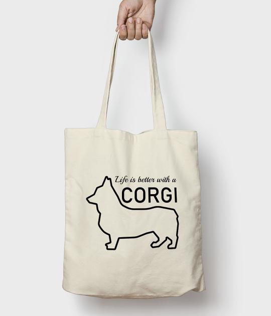 Torba bawełniana Corgi bag