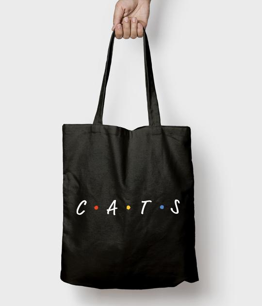 Torba bawełniana CATS napis