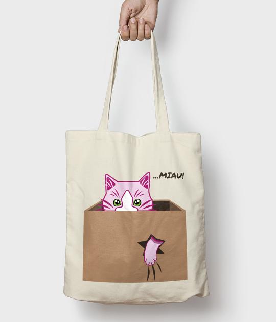 Torba bawełniana Cat Miau bag