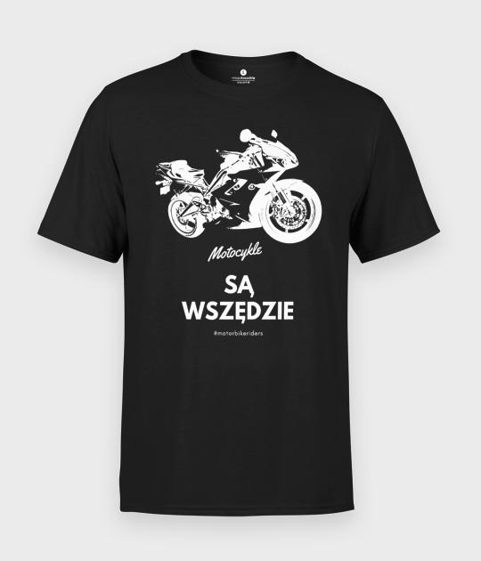 Koszulka męska Motocykle są wszędzie