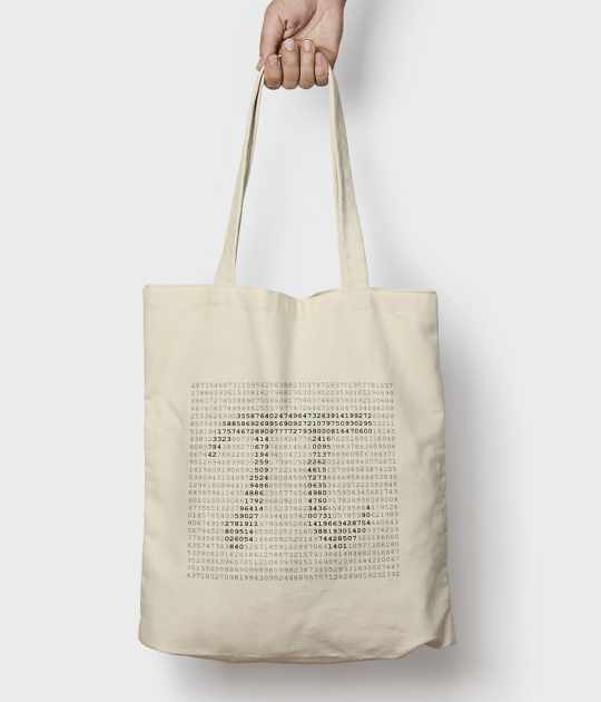 Torba bawełniana Pi Matematyka