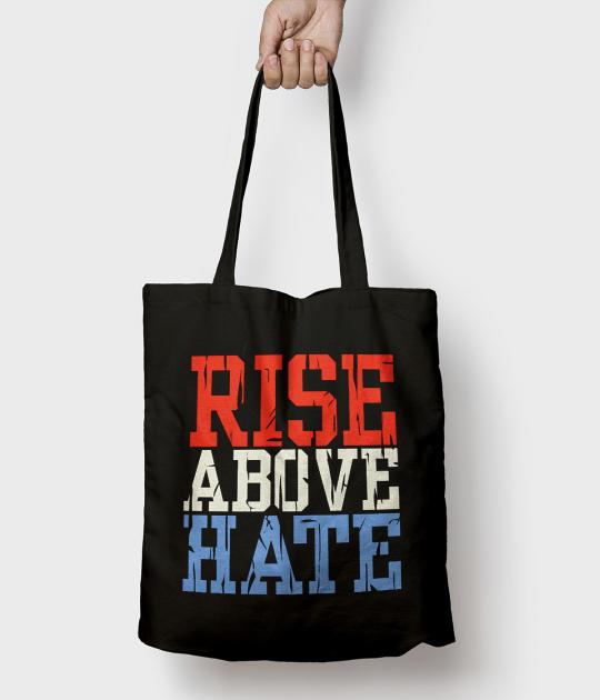 Torba bawełniana Rise above hate